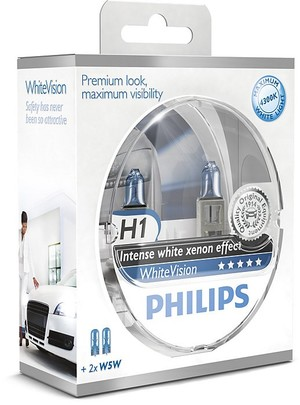 Philips WhiteVision H1 + 2 x W5W