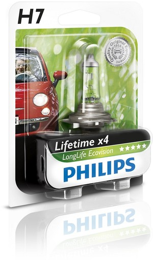 Philips LongLife EcoVision H7 (2 pack)