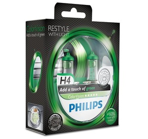 Philips ColorVision grön H4 (2pack)
