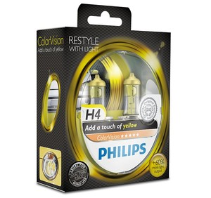Philips ColorVision gul H4 (2pack)