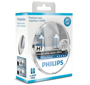 Philips WhiteVision H7 + 2 x W5W
