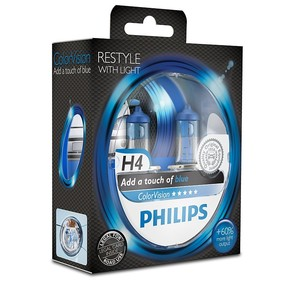 Philips ColorVision blå H4 (2pack)