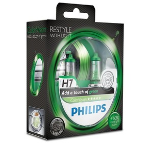 Philips ColorVision grön H7 (2pack)