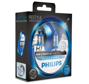 Philips ColorVision blå H7 (2pack)