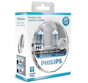 Philips WhiteVision H4 + 2 x W5W